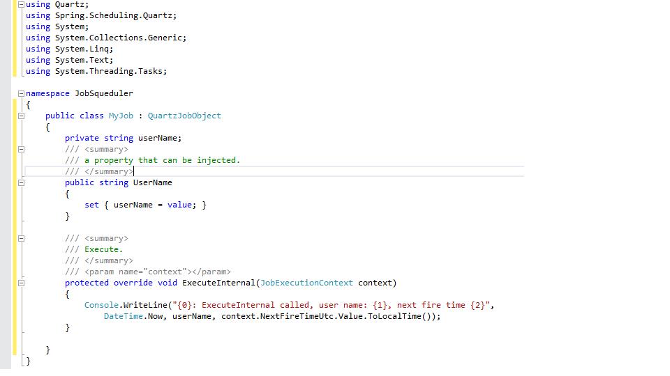 Using Spring NET and Quartz NET Job Scheduler | LogCorner com