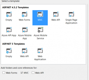 Create aspnet mvc5 project