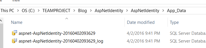 identitydatabasefolder