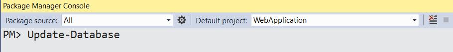 UpdateDatabase