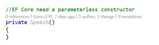 SpeechParameteless