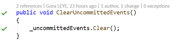 ClearUncommittedEvents