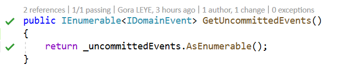 GetUncommittedEvents