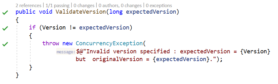 ValidateVersionImplementedEnd