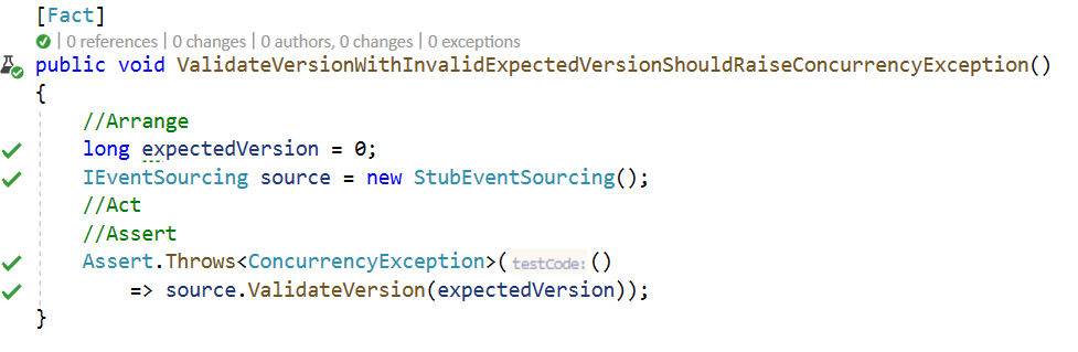 ValidateVersionWithInvalidExpectedVersionShouldRaiseConcurrencyExceptionEnd